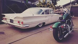 Chevrolet Bel Air White girl