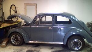 Volkswagen Beetle blue low eyes