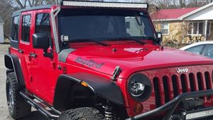 Jeep Wrangler Big red