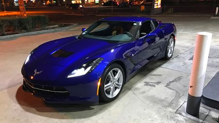 Chevrolet Corvette Blue Sexy