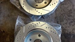 Power Stop towing brake rotors and pads.