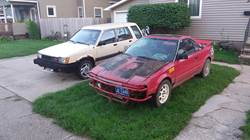 Tercel and the Mr2 together.