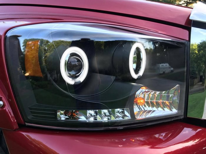 CCFL Spyder Black Halo Projector Headlights! - Drivn