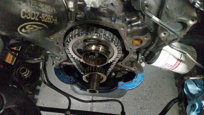 R and r timing chain and cover