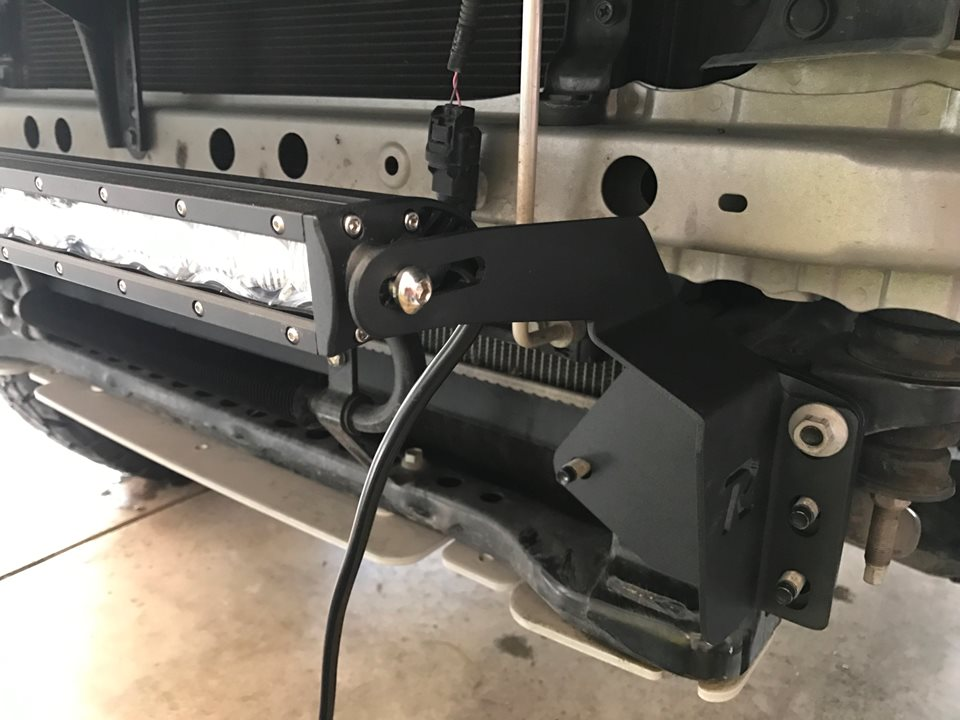Rago fabrication stealth led light bar drivn rago fabrication makes a kit with brackets light bar and all the necessary wiring best of all it mounts right on the same bolts at the shims i was mozeypictures Image collections